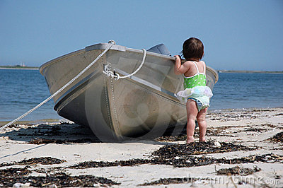 Baby with a boat