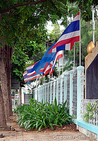 Wall of Thai Flags
