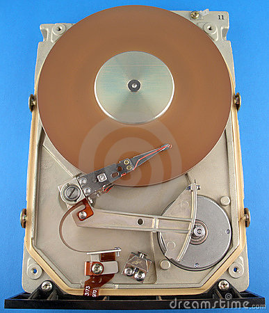 Hard disk drive without cover