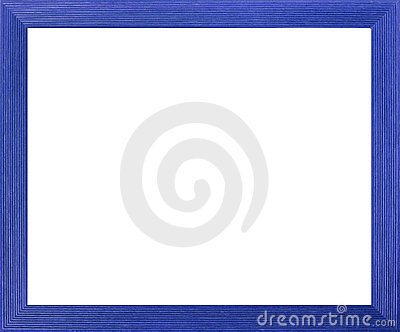 Blue Colored Picture Frame