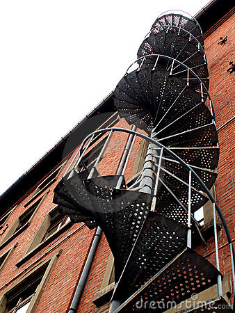 industrial spiral stairs