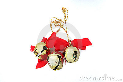 Three Christmas Bells Isolated