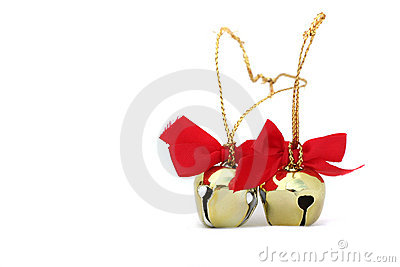 Two Christmas Bells Isolated