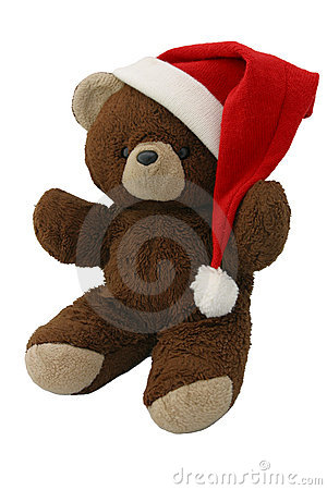 Christmas Teddy Bear on Red 2