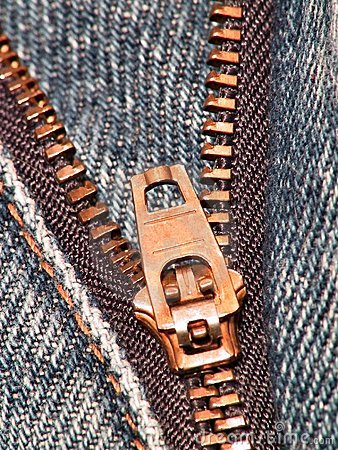 Zipper (jeans / close-up)