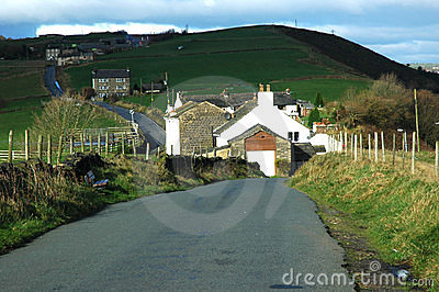 Country Lane in Mossley