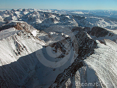 Aerial of Granite Peak and Tempest Mountain