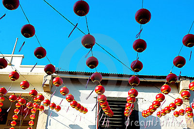 Chinese festival house decoration