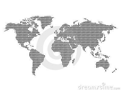 $ sign world map