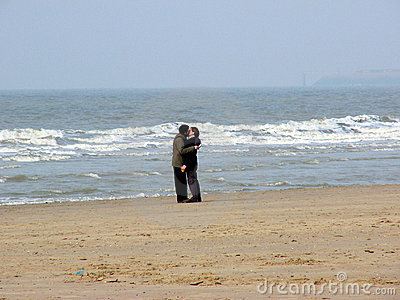 Kiss on the beach