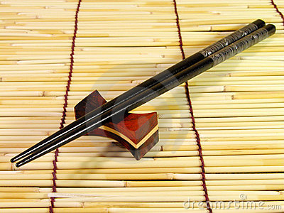 Black chopsticks