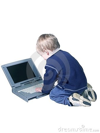 Boy and computer#2
