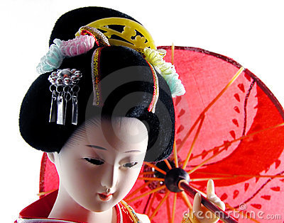 Geisha with umbrella
