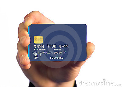 Credit card payment - white