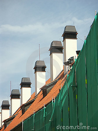 Row of chimneys