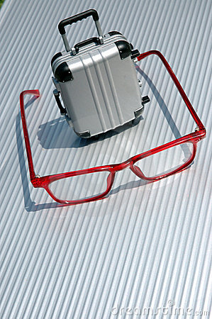 Eyeglasses and suitcase 5