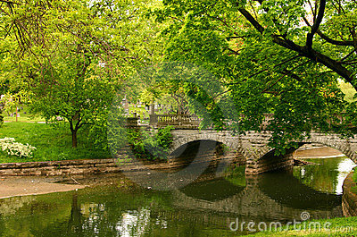 Stone Bridge Reflections