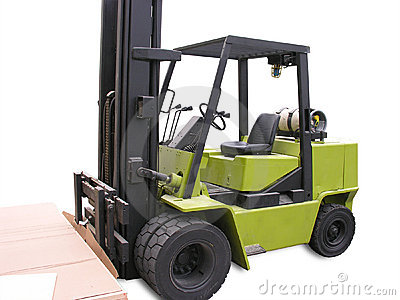 Isolated Forklift