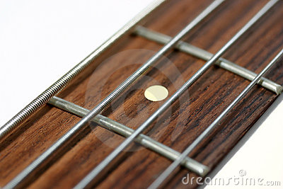 Neck of an electric bass guitar
