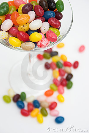 Glass of jelly beans