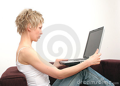 Woman+laptop+place for copy