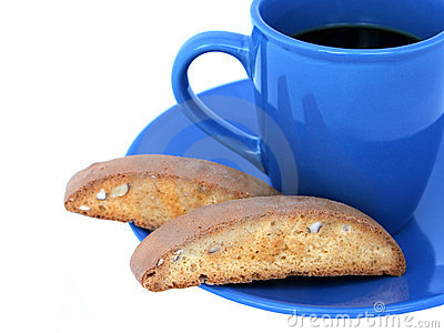 Coffee & Biscotti Closeup (isolated)