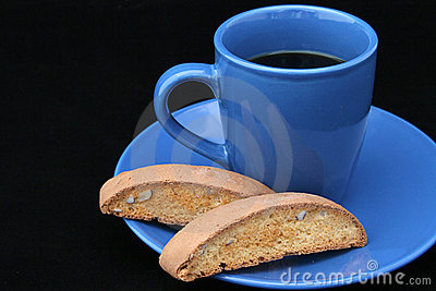 Coffee & Biscotti on Black