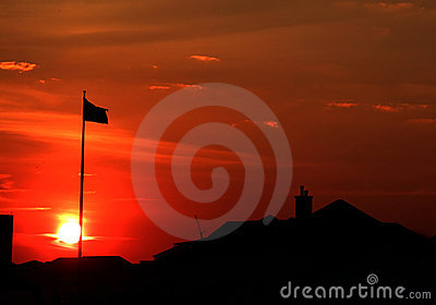 Sunset Flag