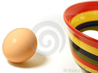 Egg and bowl