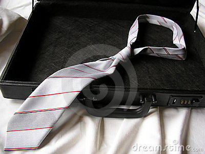 Suitcase with necktie