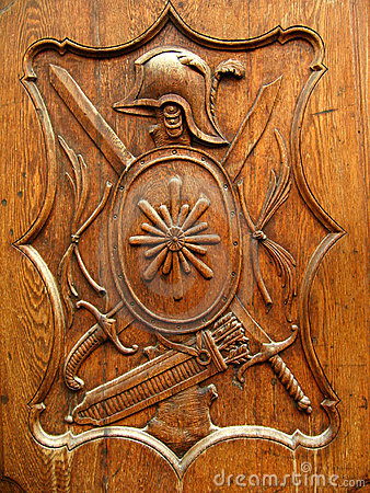 Old wooden shield