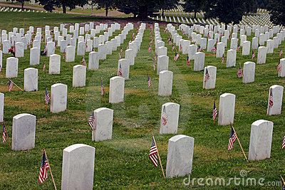 Tombstones with Flags