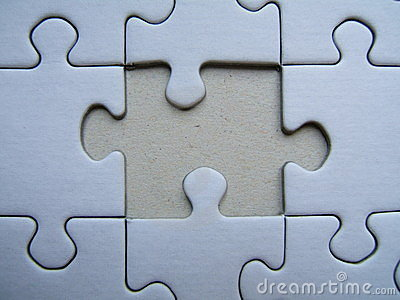 Lonely puzzle Close-up