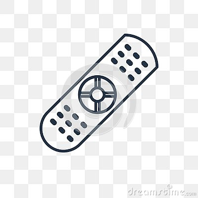 Remote control vector icon isolated on transparent background, l