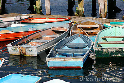 Row boats and dinghies