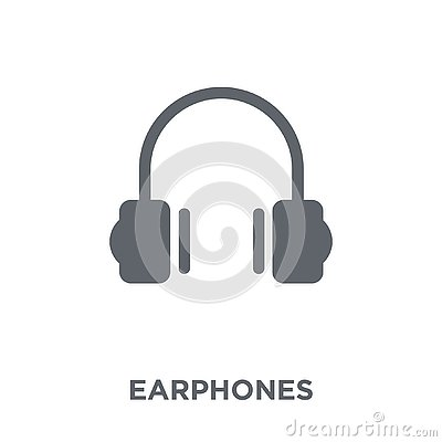 stock image of earphones icon from electronic devices collection.
