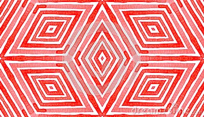 Pink red Geometric Watercolor. Delightful Seamless