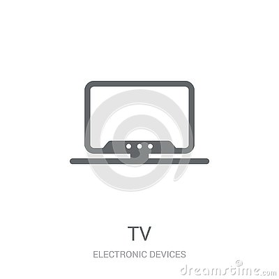 stock image of tv icon. trendy tv logo concept on white background from electronic devices collection