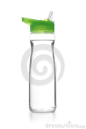stock image of sport bottle with water