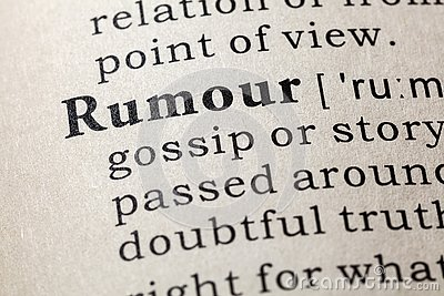 Dictionary definition of the word rumour