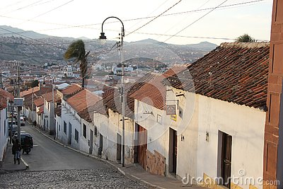 A Narrow street in Sucre