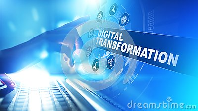 Digital transformation, disruption, innovation. Business and modern technology concept.