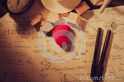 Vintage love math equations times thinking calculation theory