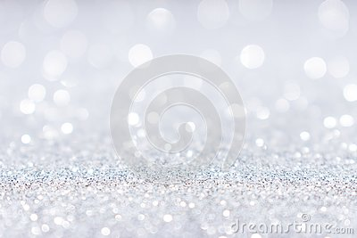 Abstract white silver glitter sparkle background