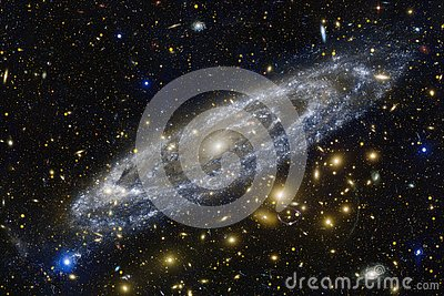 Nebulae and stars in deep space. Cosmic art, science fiction wallpaper