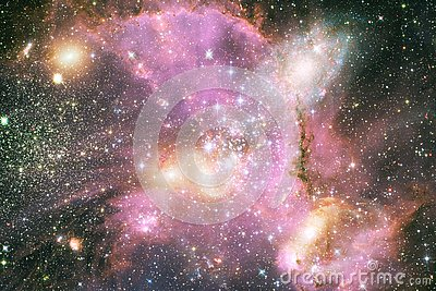Incredibly beautiful galaxy somewhere in deep space. Science fiction wallpaper