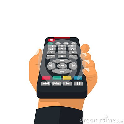 Remote control holding in hand