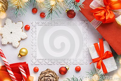 Christmas background with copyspace and decoration