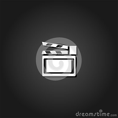 stock image of clapboard icon flat