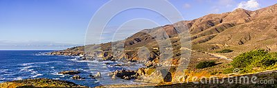 Panoramic view of the dramatic Pacific Ocean coastline, Garapata State Park, California
